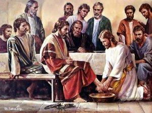 COV ZAJ NYEEM NRUAB LIS PIAM XYOO II,  2015-2016 - Page 5 Jesus-washing-feet
