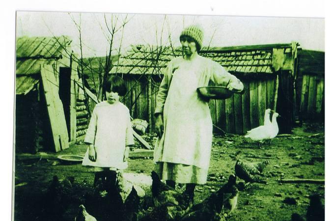 Grandma Madeline and Mom 1925