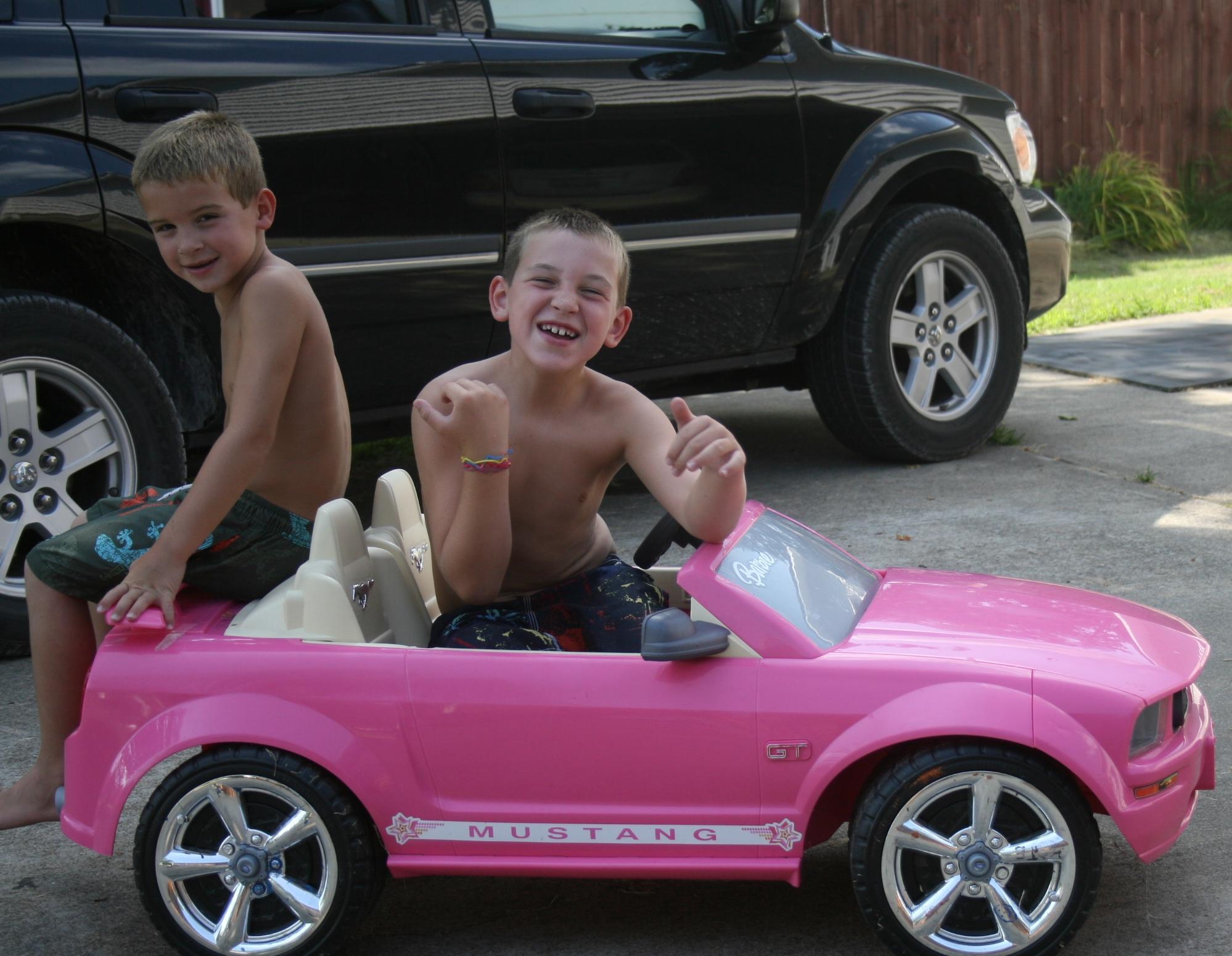 barbie in car