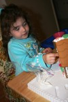 building her house