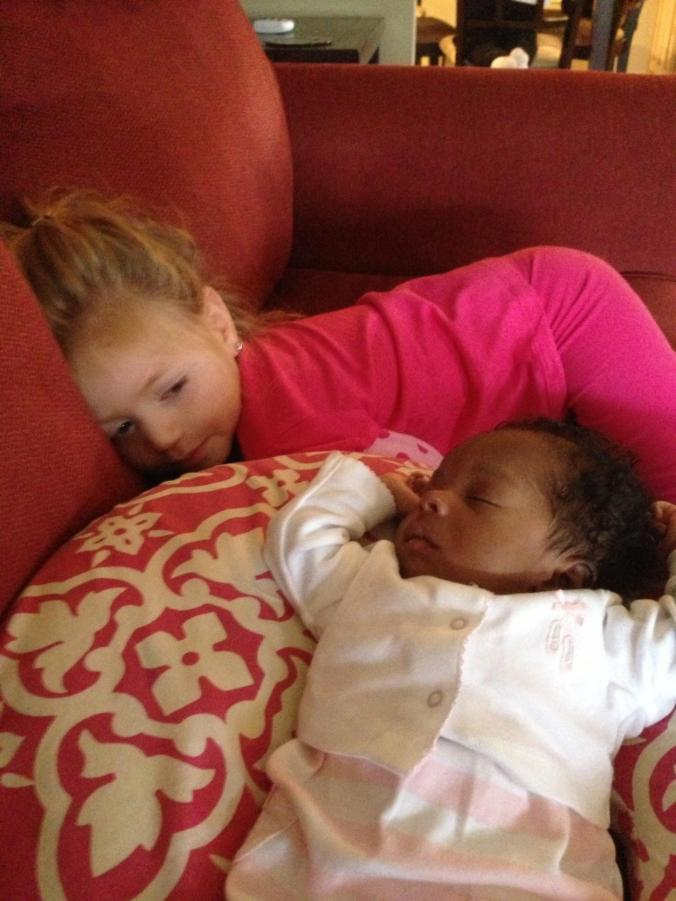 Maci and little Nia