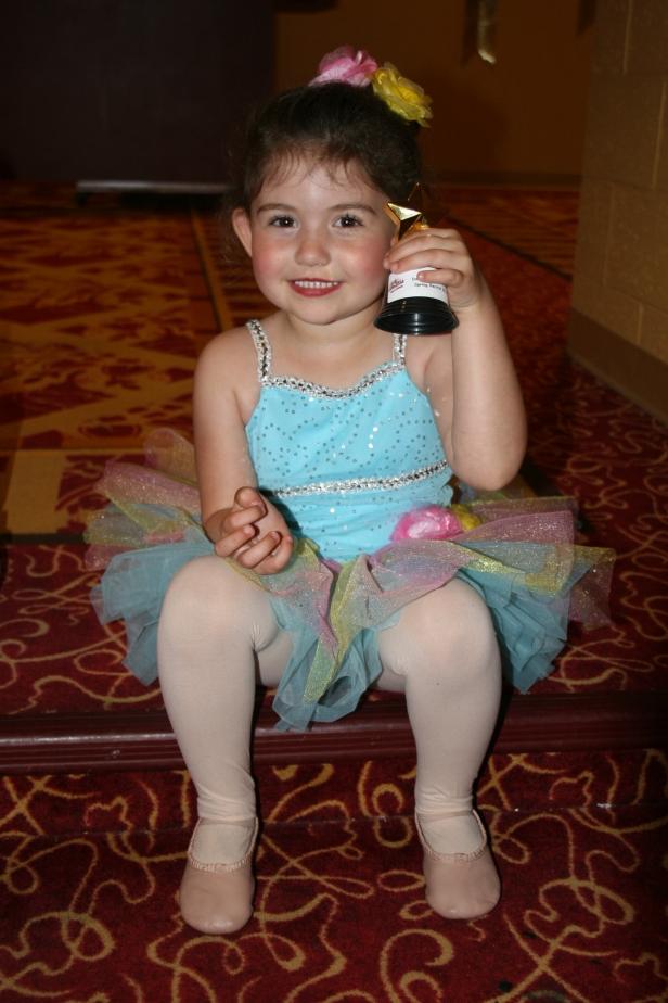 Ava after her ballet program