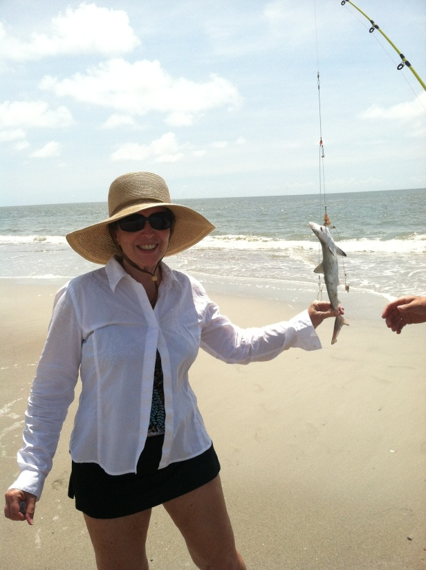 the catch!  a baby shark!!
