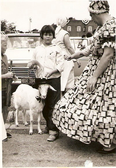 Gail and her goat