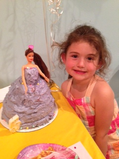 Ava and cake
