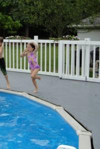 pool jumping