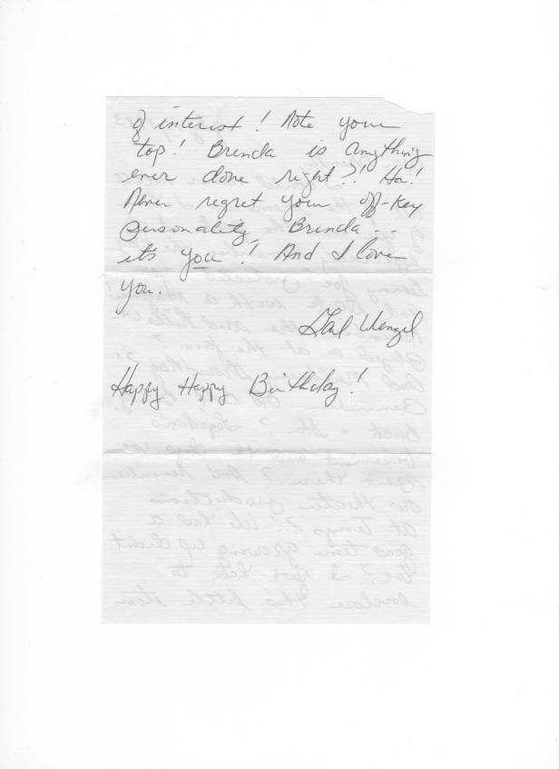 Gail's letter back