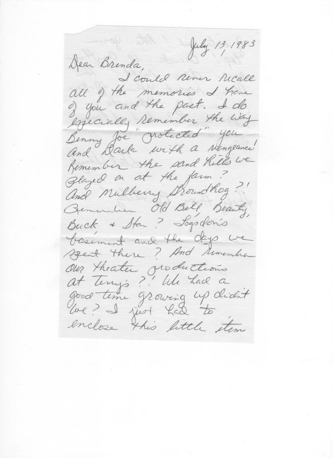 Gail's letter