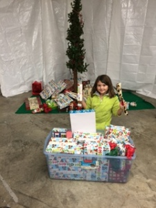 Ava unloading presents