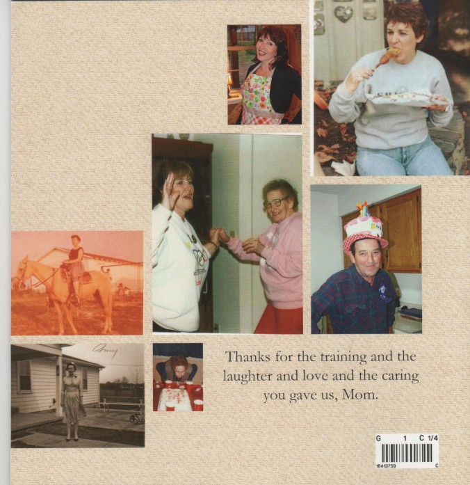 Mom's cookbook back