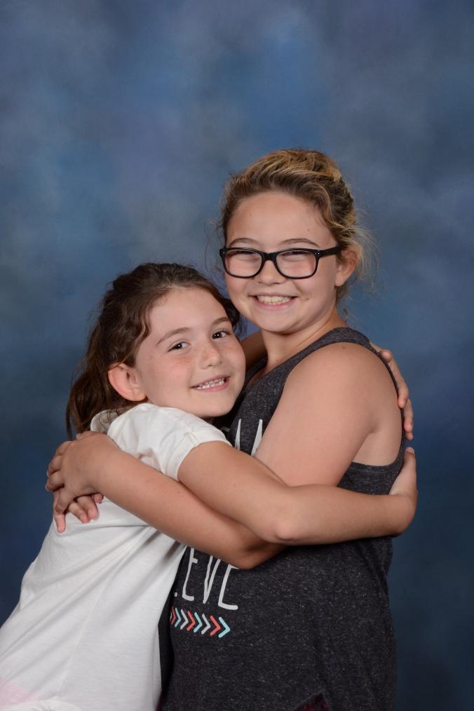 Girls hugging