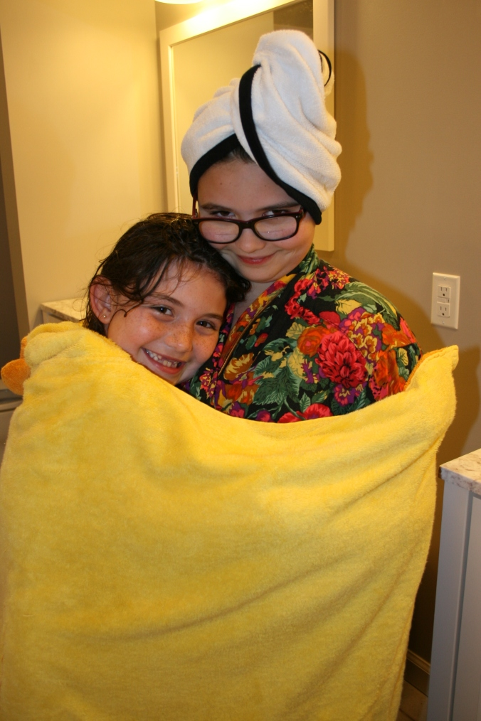 Kate Ava in duck towel 2017