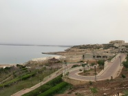 Looking out our hotel toward the Dead Sea
